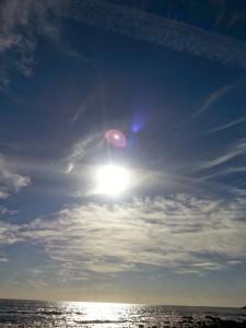 Foto que Suzette Duarte tirou na Paria do Sol, Algarve